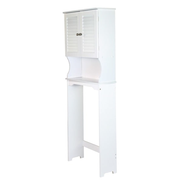 Adeco Over the Toilet Storage Spacesaver Shelves, White Finish