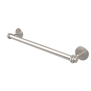 Allied Brass Satellite Orbit Two Collection 30-inch Towel Bar with Twist Detail