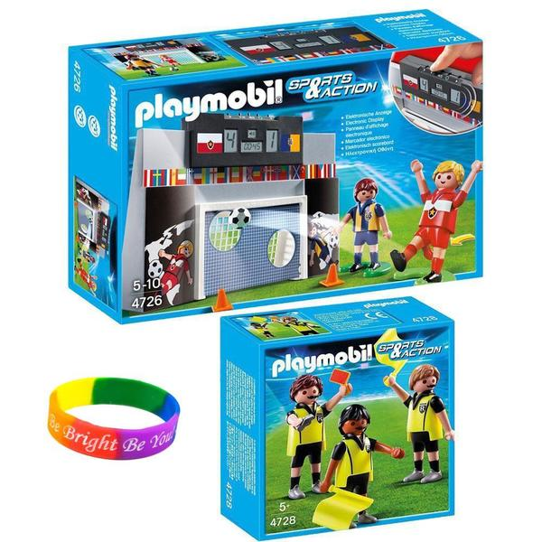 Playmobil Soccer Playmobil Soccer Shoot Out/ Referees with Dimple Bracelet