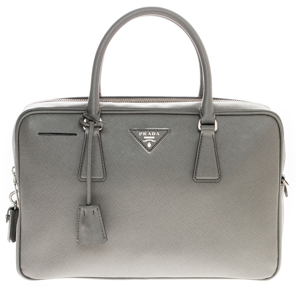 Prada Top Handle Zip-Around Satchel - 17886443 - Overstock.com ...