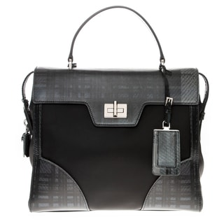 Prada Tartan and Saffiano Top Handle Satchel