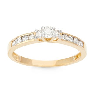 David Tutera 10k Yellow Gold 1/2ct TDW Diamond Channel-set Ring (H-I, I1-I2)