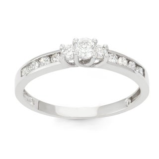 David Tutera 10k White Gold 1/2ct TDW Diamond Channel-set Ring (H-I, I1-I2)