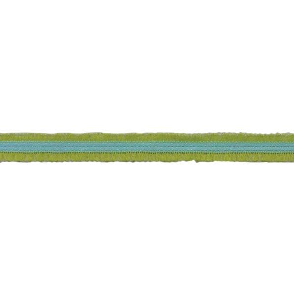 """Satin A Boucles Claire Satin With Loops 3/8""""X3.28 Yards-Green"""