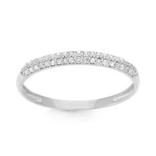 Gioelli 10k White Gold 1/5ct TDW Diamond Micro Pave Ring (H-I, I1-I2)