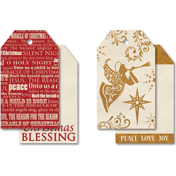 "Holy Night Tag Pack 2""X3.25"" 12/Pkg"
