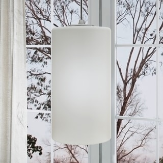 Vonn Lighting Subra 9-inch LED Pendant with White Glass Shade