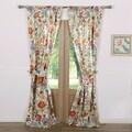 Greenland Home Fashions Astoria White Curtain Panel Pair