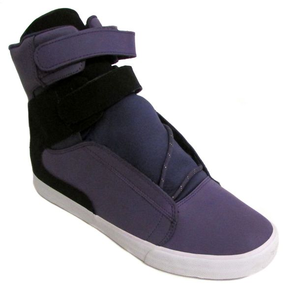 Supra Men's Society Black/ Purple/ White Fashion Sneakers