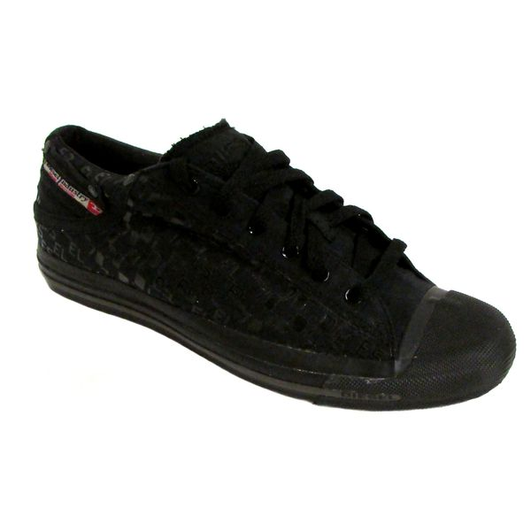 Diesel Men's Exposure Low Black Fashion Sneakers