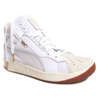 Puma Men's Challenge Lea White Marshmallow High Top Sneaker