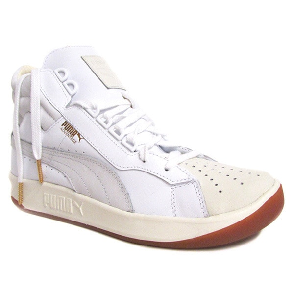 Puma Men's Challenge Lea White Marshmallow High Top Sneaker