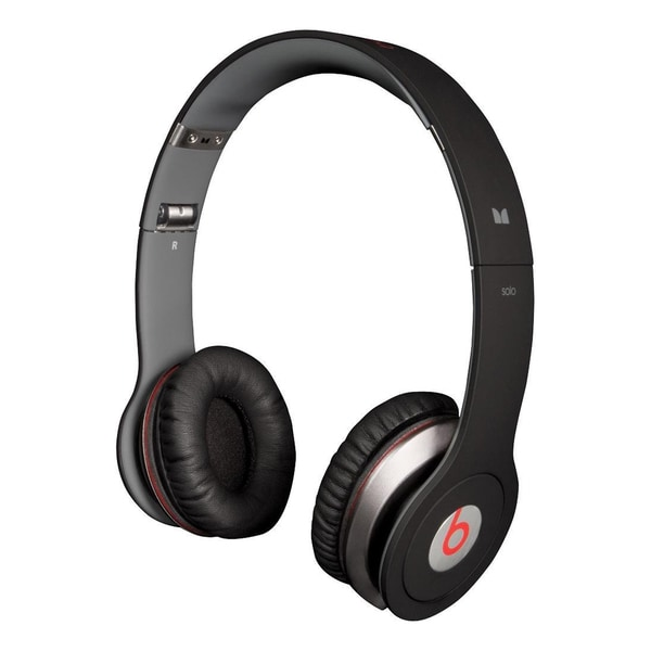 Reconditioned Beats Solo Wired On-Ear Headphones - Solo Black