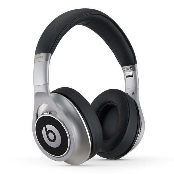 Reconditioned Beats Executive Over-Ear Noise Cancelling Headphones-Executive Silver