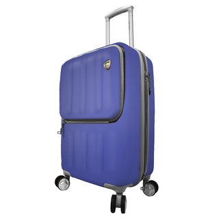 Mia Toro ITALY Mezza Tasca 20-inch Expandable Carry-on Hardside Spinner Suitcase