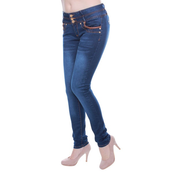 Sexy Couture Juniors' Regular-Rise Skinny Jeans