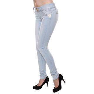 Sexy Couture Juniors' Mid-Rise Skinny Jeans