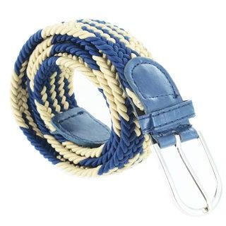 Faddism Unisex Contrasting Color Braided Stretch Belt