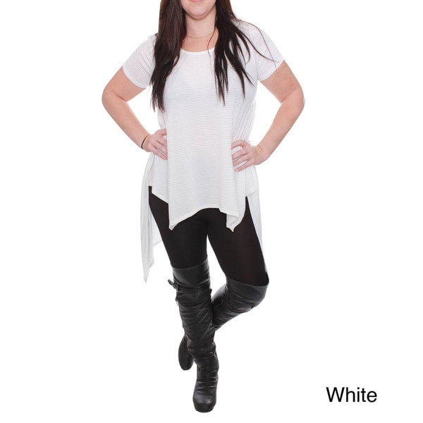 Beston Junior's White Hi-Low Tunic Plus-Size Top