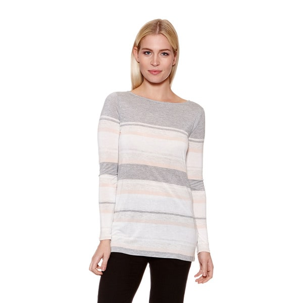 Women's Engineered Stripe Long Sleeve Tee