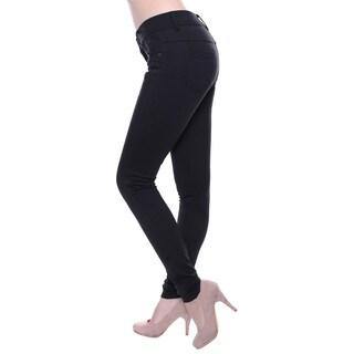 Women's Black Five Pockets Classic Skinny Pants