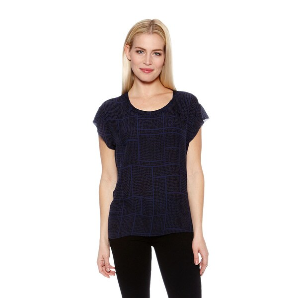 Women's Silk Dot Grid Top