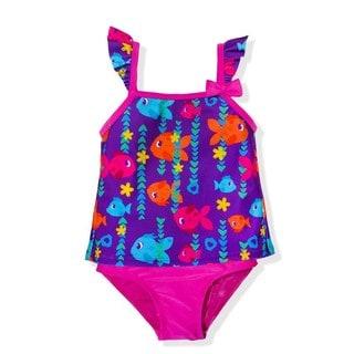 Jump'N Splash Small Girls' Sweetheart Fish Tankini Swimsuit