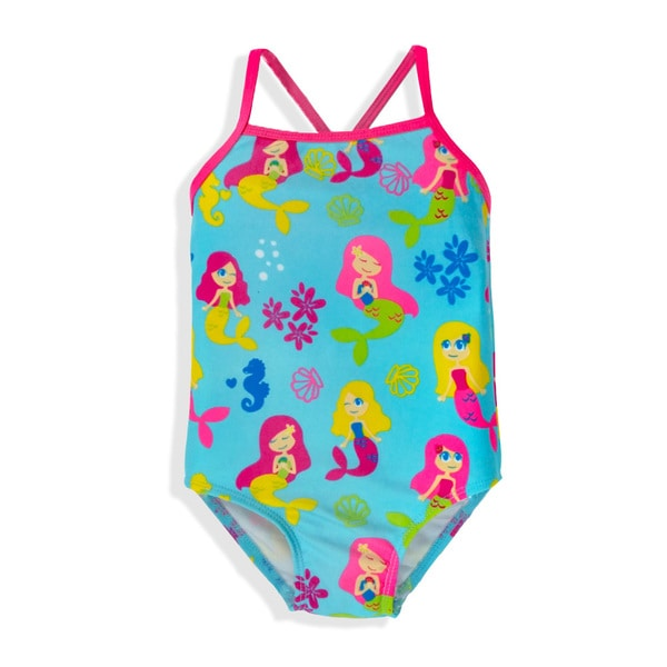 Jump'N Splash Small Girls Mermaid One-Piece Swimsuit