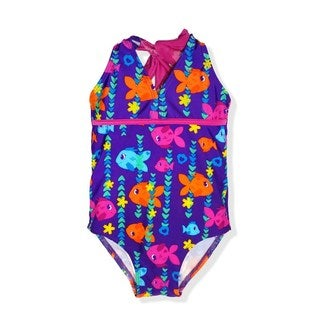 Jump'N Splash Small Girls Sweetheart Fish One-Piece Swimsuit