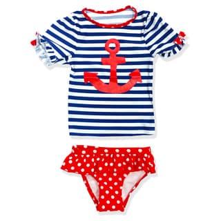 Jump'N Splash Small Girls Navy Girl Rash Guard Set