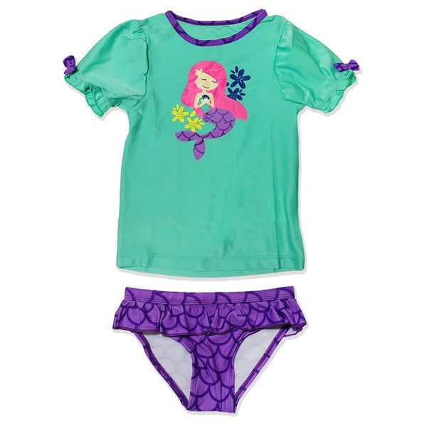 Jump'N Splash Small Girls Mermaid Rash Guard Set