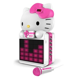 Hello Kitty CD+G Karaoke System with LED Light Show and P3/MP4+G Playback