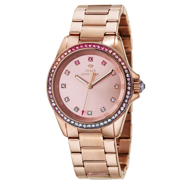 Juicy Couture Women's 'Stella' Stainless Steel Rose Gold Ion Plated Quartz Watch