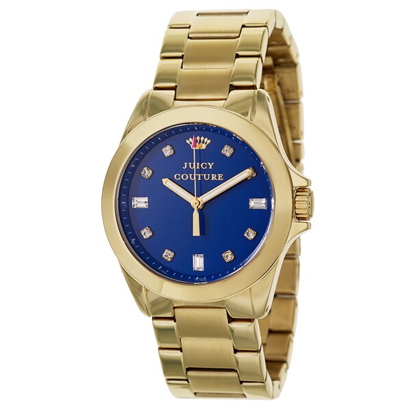 Juicy Couture Women's 'Stella' Stainless Steel Yellow Gold Ion Plated Quartz Watch