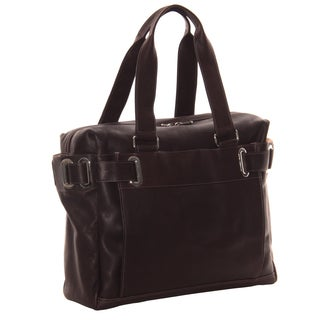 Piel Leather Ladies Slim Carry-On Tote Bag