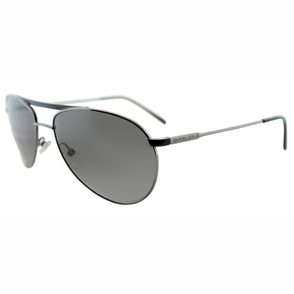 Giorgio Armani Unisex GA 916 KJ1 Dark Ruthenium Metal Aviator Sunglasses-59mm