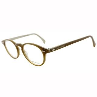 Giorgio Armani Unisex GA 786 1FT Beige Plastic Round Eyeglasses-45mm