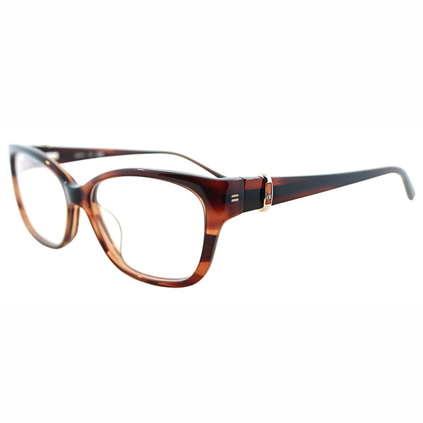 Calvin Klein Womens CK 5745 275 Brown Transparent Plastic Eyeglasses-54mm