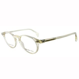Giorgio Armani Unisex GA 786 Q0M Crystal Honey Transparent Round Plastic Eyeglasses-45mm
