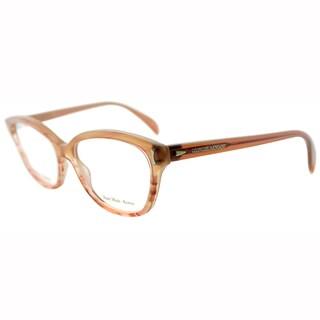 Giorgio Armani Womens GA 818 WLG Brown Beige Cateye Plastic Eyeglasses-52mm