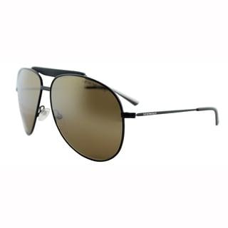 Emporio Armani Unisex EA 9807 003 Matt Black Wayfarer Metal Sunglasses-60mm