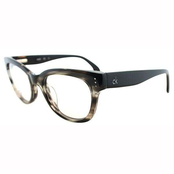 Calvin Klein Womens CK 5727 275 Grey Horn Cateye Plastic Eyeglasses-49mm