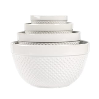 Hobnail Stoneware Mixing Bowls (Set of 4)