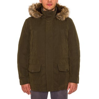Nautica Mens Cargo Parka with Faux Fur Hood