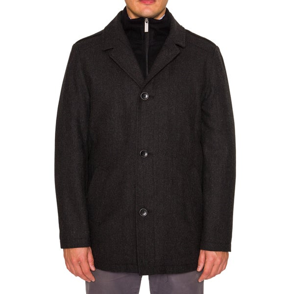 Nautica Mens Single Breasted Pea Coat