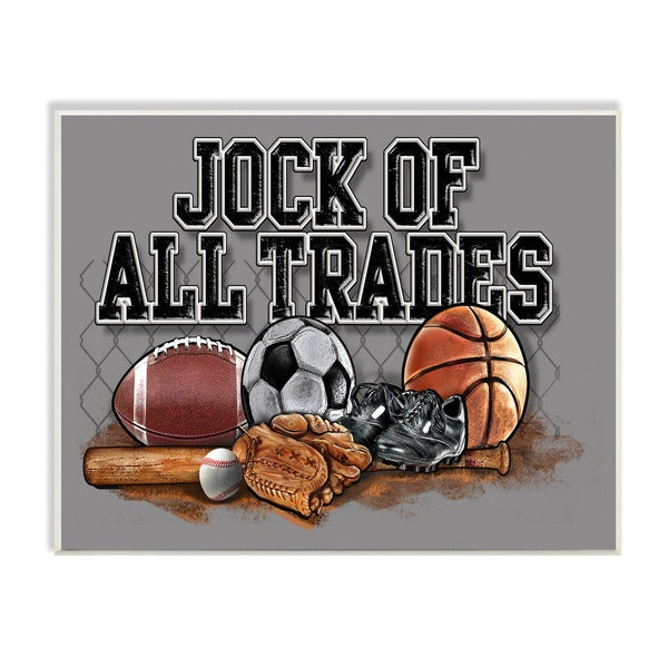 Jock of All Trades Sports Balls Art Wall Plaque