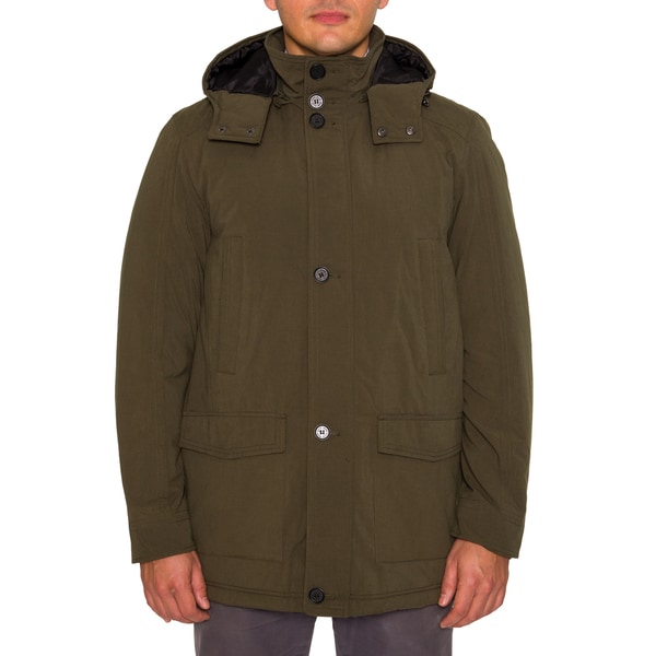 Perry Ellis Mens Microfiber Anorak with Hood