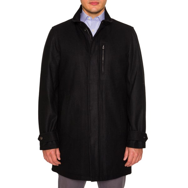 Perry Ellis Wool Coat with Stand Collar