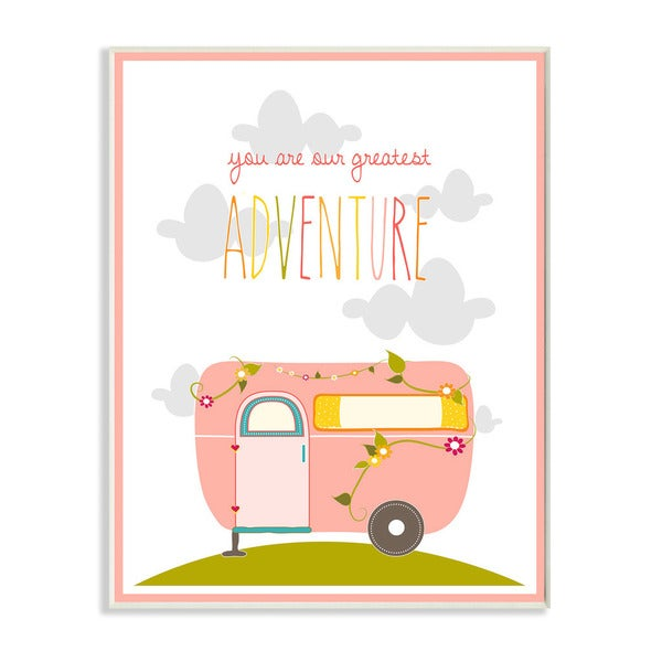 You Are Our Greatest Adventure Pink and Grey Art Wall Plaque