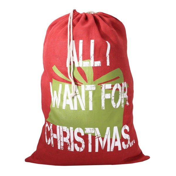 All I Want For Christmas Santa Sack